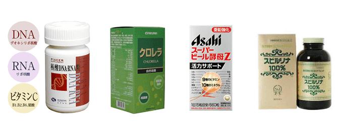 尿酸値を上げるサプリx4